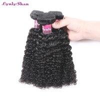 Brazilian Kinky Curly Hair Bundles 100% Human Hair Weave 1/3/4 Bundles Natural Color Remy Hair Hot Sale Lynlyshan
