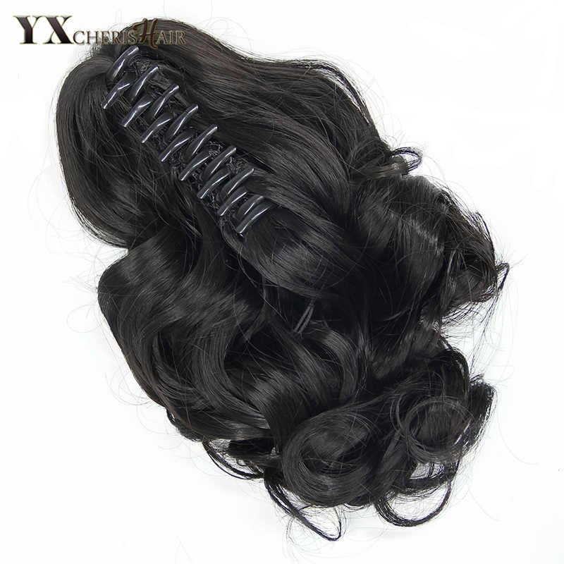 """YXCHERISHAIR 10 """"pazur włosy clip in Ponytails syntetyczne perwersyjne doczepy z kręconych włosów dla kobiet dziewczyny naturalne czarny blond brązowy"""