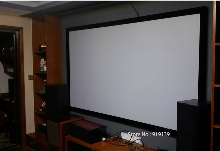Us 480 89 5 Off Huge Cinema Screen 160 Inch Flat Fixed Frame Diy Projection Screen 3d Projector Screen Fabric 16 9 Ratio In Projection Screens From