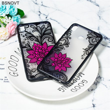 For Huawei Honor 8X Case Soft TPU Silicone Lace Rose Flower Back Cover Funda BSNOVT
