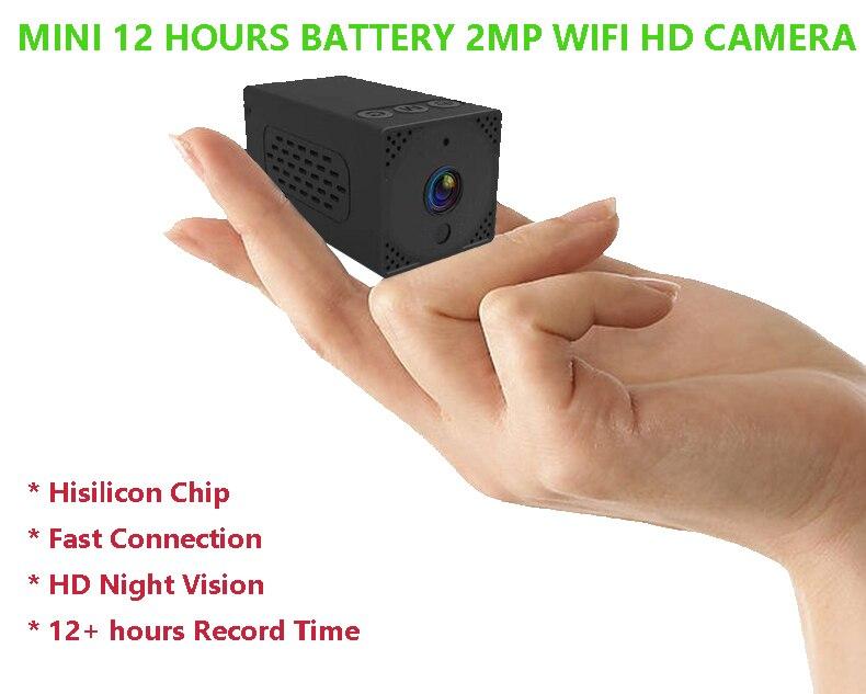 Mini 2MP 1080 P HD Vision nocturne sans fil WiFi alimenté par batterie CCTV caméra de sécurité pour Android iOS App