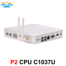 Partaker Barebone Mini PC C1037u Fanless Computer 1.8GHz max 8G RAM 2 Storage INTEL Ivy Bridge USB 3.0 HDMI 1* RJ45 Gigabit Lan