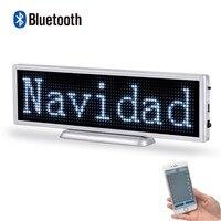Venta 21cm P3mm Bluetooth letrero LED señal programable desplazamiento pantalla panel para tienda negocio controlado por mobile