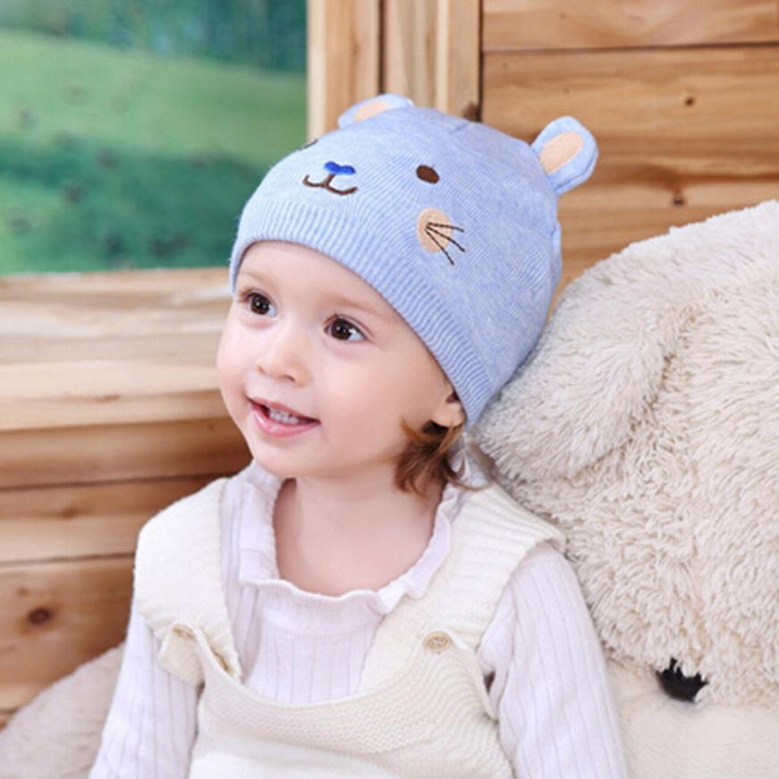 TELOTUNY solid child hat beanie baby Infant kint Winter Warm beanie baby winter hats Crochet cap Soft kid Knitting hats dec6