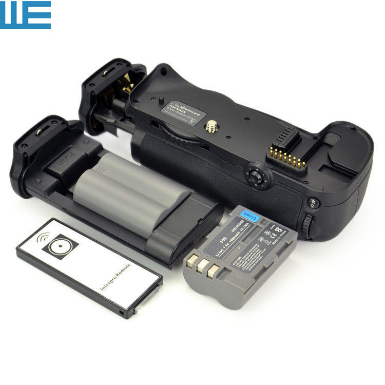 MB D10 Battery Grip + IR Remote Control + 2X EN EL3E Batteries for Nikon D300 D300s D700 SLR Cameras.-in Battery Grips from Consumer Electronics    1