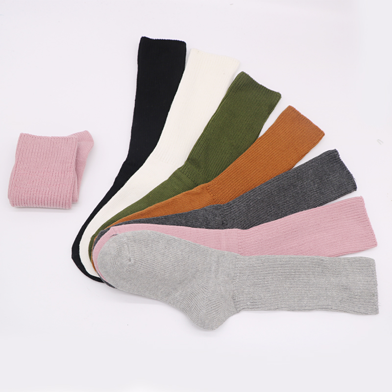 1Pair Womens Fashion Casual Solid Color Long Sock 4
