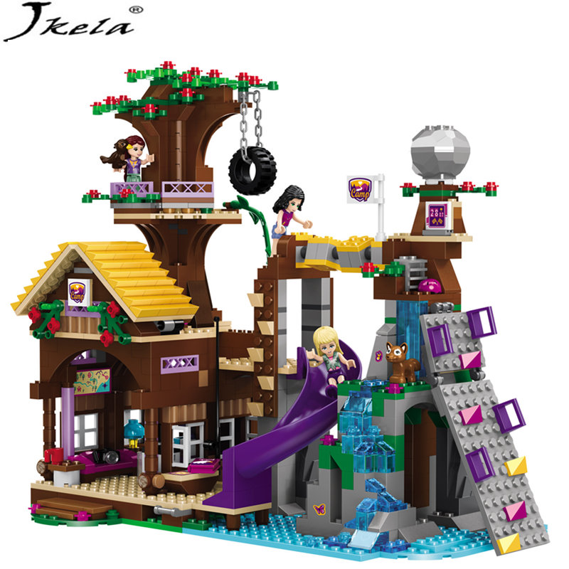 [hot] 875PCS Legoings Adventure Camp Tree House Model Building Blocks Gifts Toy Compatible LegoINGly Friends Toys for children [hot] 875pcs legoings adventure camp tree house model building blocks gifts toy compatible legoingly friends toys for children