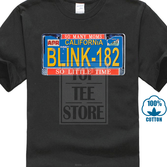 28205f900 Blink 182 So Little Time Black T Shirt New Official Adult-in T ...