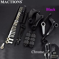 Motorcycle Black/Chrome Forward Controls Complete Kit Pegs& Levers& Linkages For Harley Sportster XL 883 1200 04 13 14 16