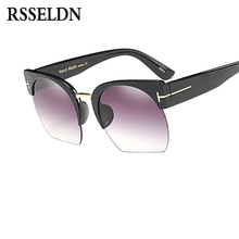 Newest Semi-Rimless Sunglasses Brand Designer for Women