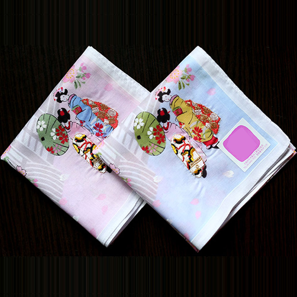 100% Cotton Women's Handkerchief Soft Thin Multi-use Japanese Style Nice Square Towel Exquisite Female's Kerchief 48*48cm SY1904