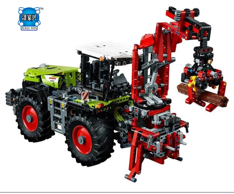 NEW 1977Pcs Technic  Claas Xerion 5000 Trac Vc Model Building Kit Figures Blocks Brick Toy Gift Compatible with Lepines siku трактор claas xerion 5000