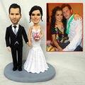 Ooak بوليمر كلاي مصغرة دمية تمثال نيك المواهب الزفاف الديكور كعكة توبر مخصص الزوج هدية الآباء اليوم هدية صالح
