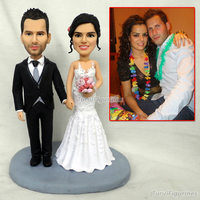 ooak Polymer Clay minature doll figurine knick knacks wedding decoration cake topper Custom husband gift Fathers Day Gift favor
