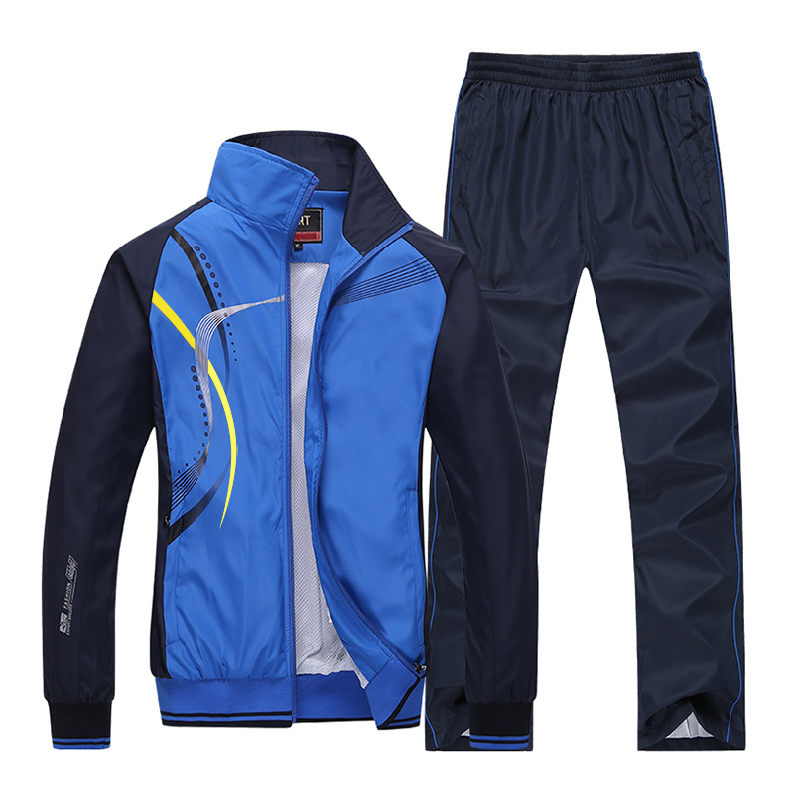 2017 New Men Spring Autumn Sports Suits breathable Pants Jackets outdoor Sportswear Running Tracksuits Fitness Gym Couples L-5XL