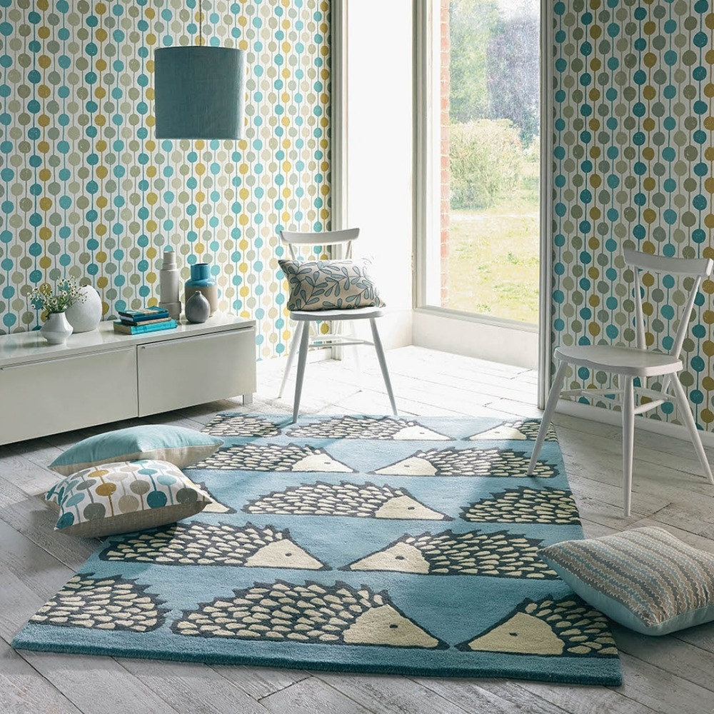 Design moderne Coloré Cercles Points Papier Peint Création Motif Enfants Mur Rouleau de Papier Pour Chambre Salon, Vert, marine, Teal
