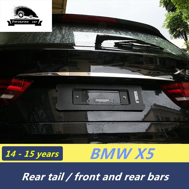Хромирование спереди лицо стикер заднего амортизатора крышка подоконник покрытие автомобиля наклейки для BMW X5 F15 E70 X6 e71