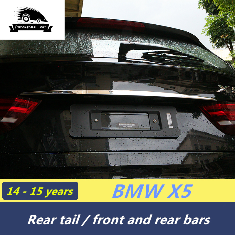 Chrome plating Front face sticker Car Rear Shock Absorber Cover Sill Cover car sticker for BMW X5 F15 E70 X6 E71