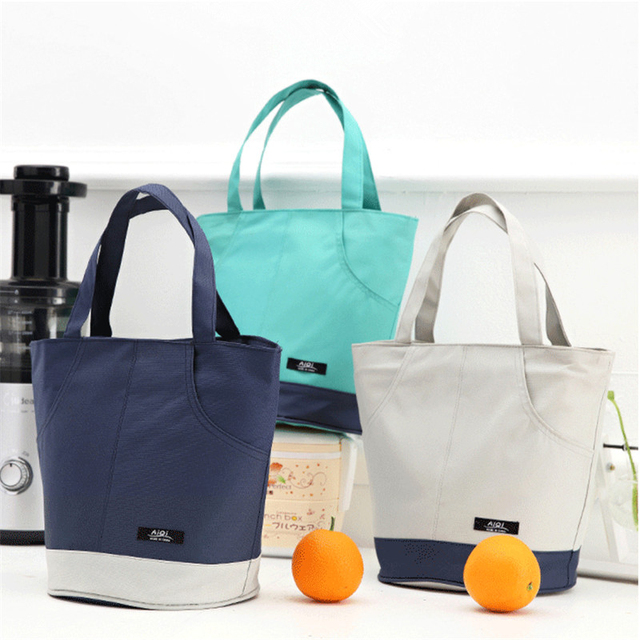 Portable Lunch Bag Insulated Thermal Cooler Lunch Box Outdoor Picnic Bag Convenient School Food Storage Bags