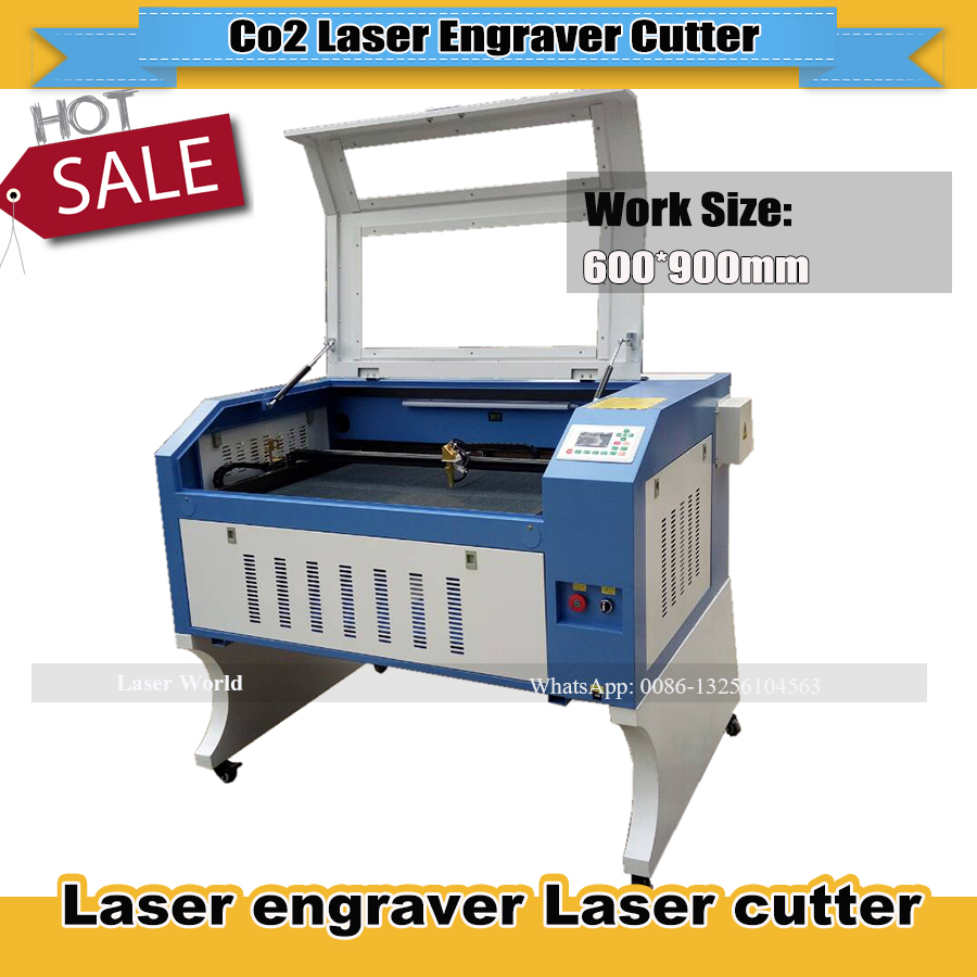 To Russia Free Tax Laser Engraver 6090 100W  Ruida RDC6442S  DSP Control   CW3000 Water Chiller 220V/110V CO2  Laser Engraving