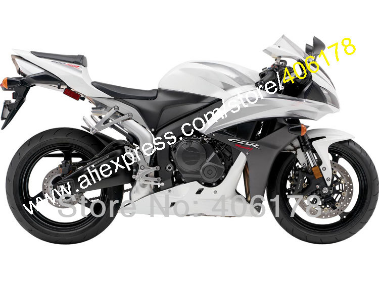 Hot Sales,Cheap Fairing Kit For Honda CBR600RR F5 2007 2008 CBR 600 RR 07 08 silver CBR600 600RR Fairing Set (Injection molding)