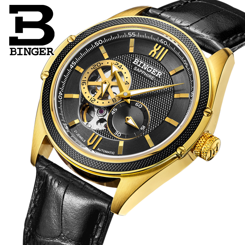 Switzerland Binger Watch Men Luxury Brand Miyota Automatic Mechanical Movement Watches Sapphire Waterproof reloj hombre B-1165-5 switzerland men watch automatic mechanical binger luxury brand wrist reloj hombre men watches stainless steel sapphire b 5067m