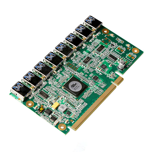 Motherboard PCI Express 1 To 8 Mining Riser Card E X16 Data Graphics SATA 8Pin Adapter For BTC Miner Machine Board