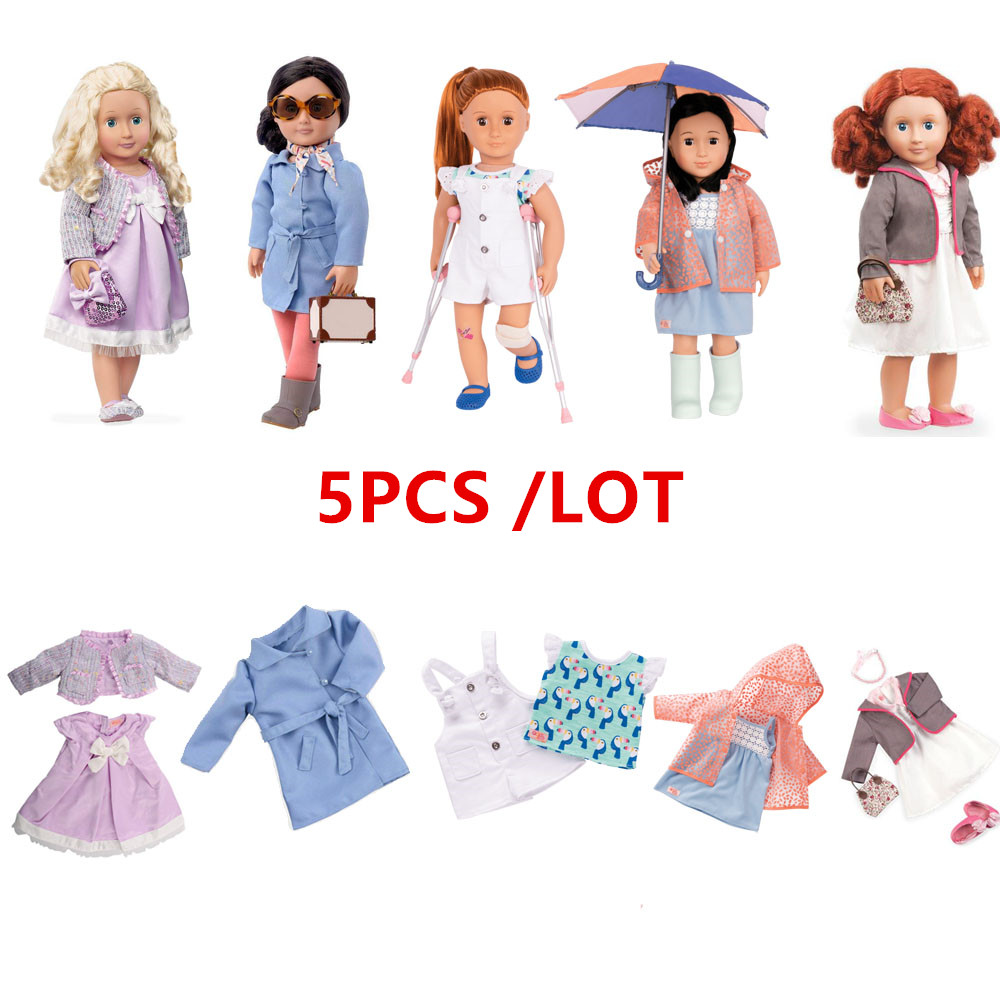 American Girl Doll Clothes 5 Sets Different High Quality Outfits Include Doll Accessories Fit American Girl Doll, Our Generation american girl doll clothes 5 sets different high quality outfits include doll accessories fit american girl doll our generation