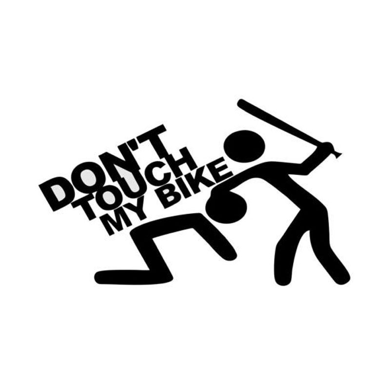 14,5 см * 8,7 см Индивидуальные креативные модные наклейки «Don't Touch My Bike»
