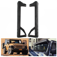 a pair 52 inch LED Light Bar Light bar Steel Windshield Mounting Bracket Day Ligh Working Offroad For Jeep Wrangler JK 2007 2015