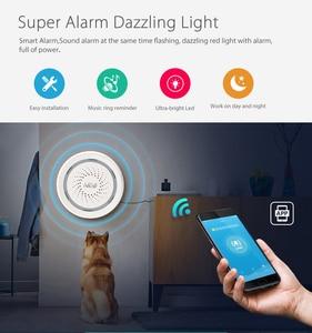 Image 2 - ניאו אלחוטי WiFi USB סירנה אזעקת חיישן קול ואור סירנה חיישן בית חכם חיים