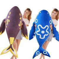 100cm Cute Blue Whale down cotton elastic Anime mounts Whale super soft plush toy doll Stuffed animals birthday gift