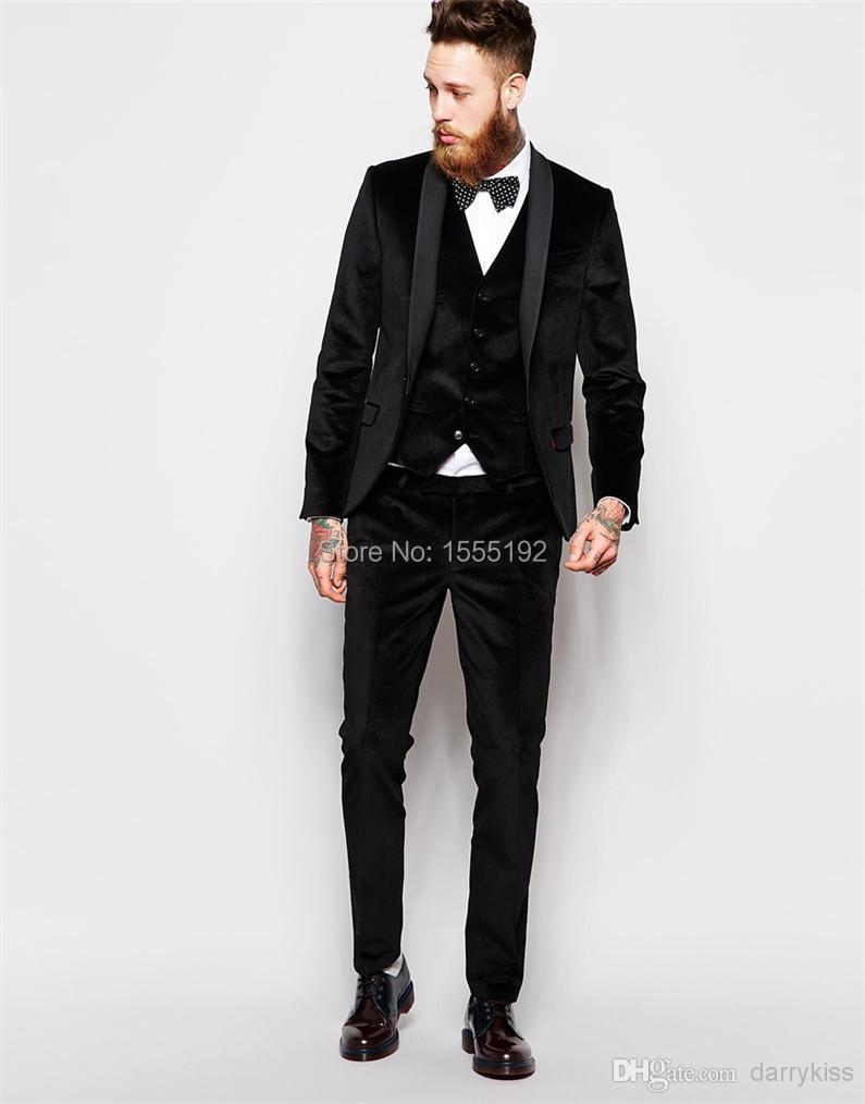 Aliexpress.com : Buy Black Suit Custom Made Groom Tuxedos Blue ...