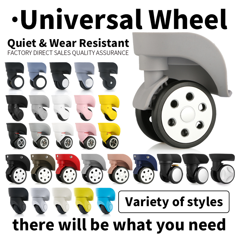 Replacement Wheel  Silent Swivel Repair Suitcase Universal Rolling Luggage Accessories Bag Caster Colored Mute Luggage Casters