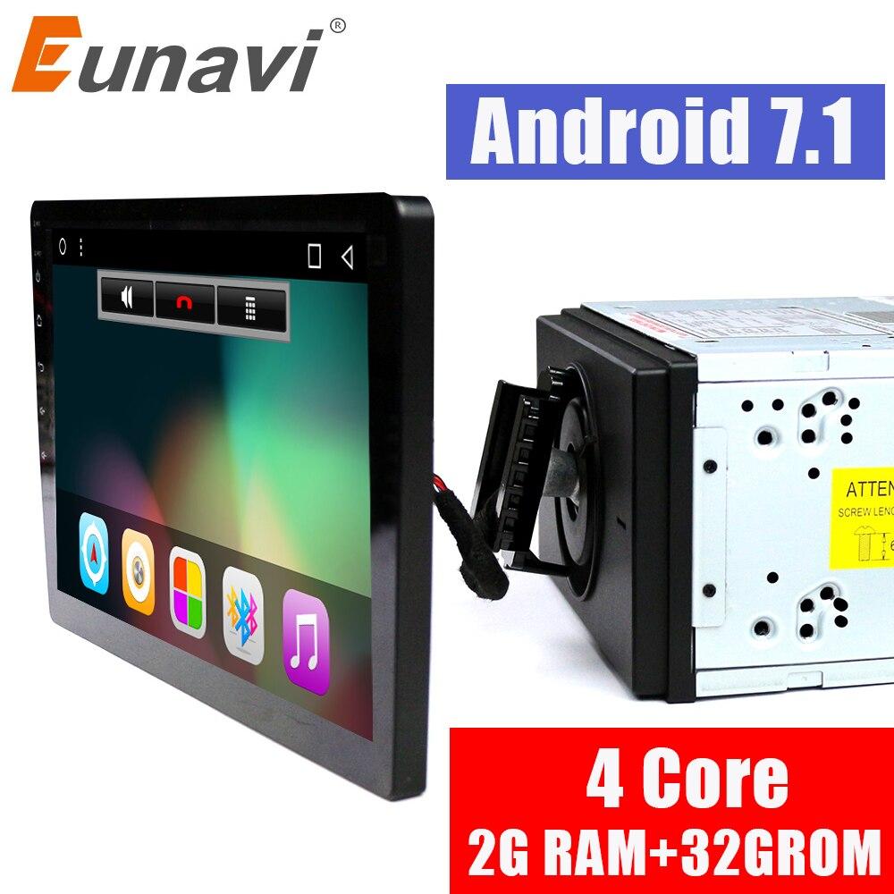 Eunavi 2 din дюймов 10,1 дюймов 4 ядра г + г 32 Android 7,1 автомобиля радио gps навигации с емкостный экран стерео Bluetooth Wi Fi г 3G swc