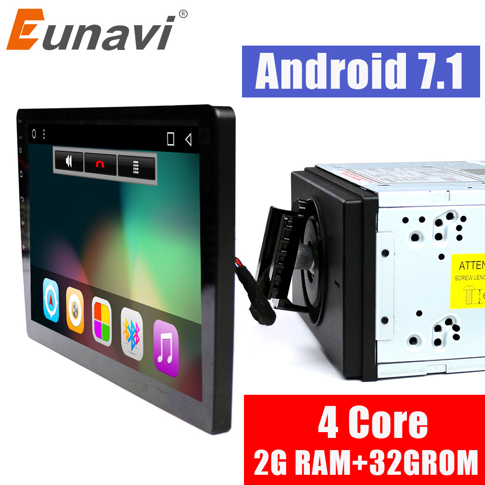 Eunavi 2 din 10.1 inch quad core 2G+32G Android 7.1 Car Radio GPS Navigation with capacitive screen stereo Bluetooth wifi 3g swc genuine motorola defy 3 7 capacitive android 2 2 3g wcdma smartphone w wifi a gps black