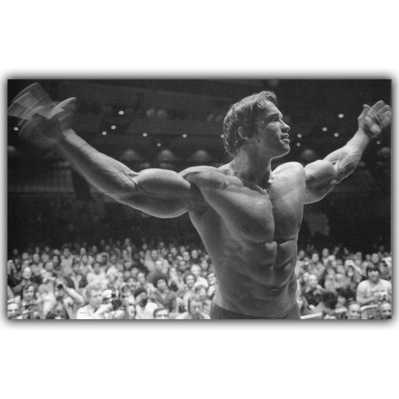 T552 Hot Arnold Schwarzenegger Bodybuilding Fitness Gym Poster Silk Wall Art