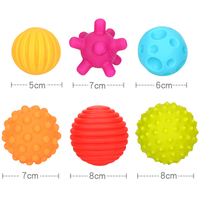 YETAA Colorful Balls Toys Develop Baby's Touch Bite Catch Squeeze Abilities Hand Ball Enlighten Baby Learning Grasping Baby Toys