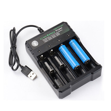 18650 USB Charger 4-slot Li-ion Battery DC 4.2V/1A USB Charger Adapter for Battery 18350 16340 18500 26650 18650 14500