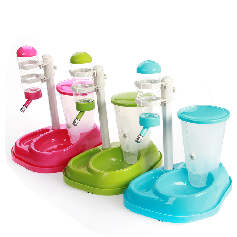 Adjustable Pet dog <font><b>water</b></font> <font><b>food</b></font> fountain container dispenser dog puppy drinking bottle feeder Automatic dog Pet cat <font><b>food</b></font> feeder