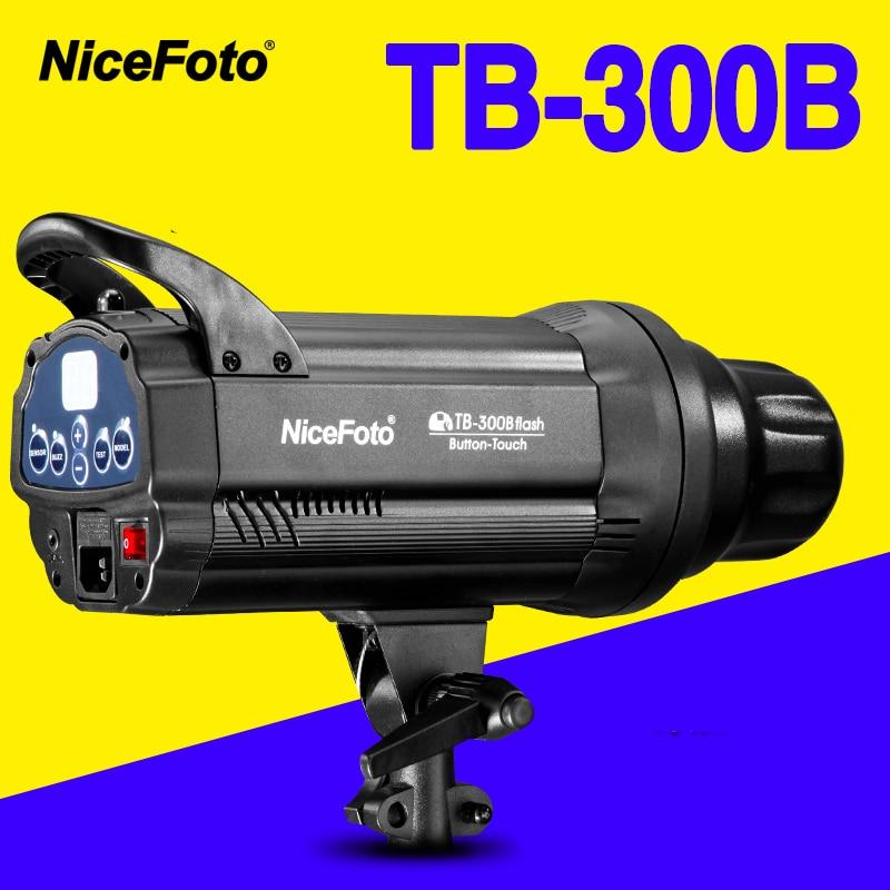 NiceFoto TB-300B 300 W Studio Flash tempo de reciclagem rápida TB300B Estúdio de fotografia estúdio lâmpada luz botão de toque