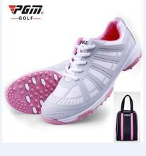 PGM mujeres deportes de Zapatillas de golf doble patente impermeable antideslizante transpirable profesión el exoesqueleto mujeres Golf sneakers 35- 40(China)
