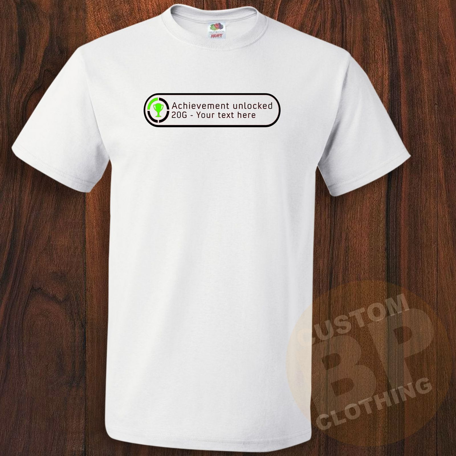 Xbox Personalized Achievement Unlocked Gamer Gaming Funny T-Shirt 8 Colors S-3XL New T Shirts Tops