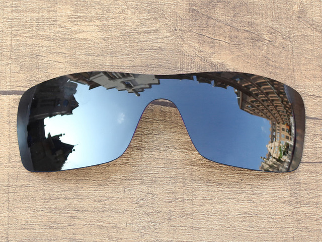 Black Iridium Mirror Polarized Replacement Lenses For Batwolf Sunglasses Frame 100% UVA & UVB Protection