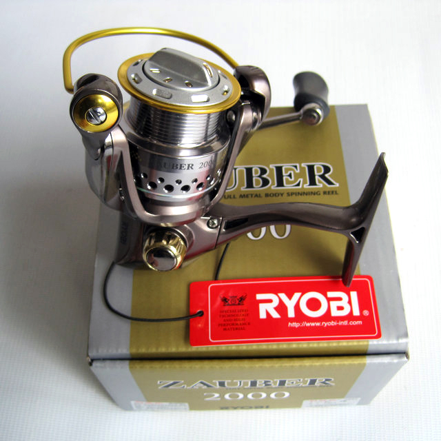 RYOBI fishing line reel ZAUBER 1000/2000/4000 spinning reel metal lure fishing wheel upgrade metal handle smooth 100% original