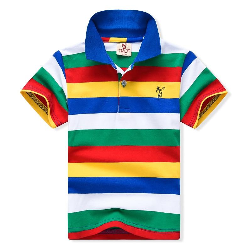2-7yrs Baby Boys New 2019 Summer Clothes Children Clothing Kids Cotton Shirts High Quality Stripe Boys Shirts