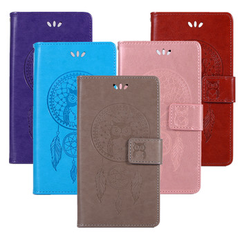 Owl Wind Chime Leather Case For Asus Zenfone ZE520KL ZE550KL ZE601KL ZE552KL ZE554KL ZE500KL ZE620KL ZS620KL Flip Wallet Cover image