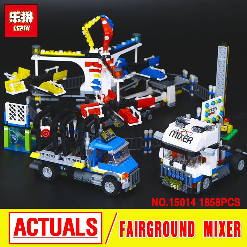 New Lepin 15014 Genuine  Street  The Amusement Park Giant Stride Carnival Set 10244 Building Blocks Bricks Toys Funny Gift black pearl building blocks kaizi ky87010 pirates of the caribbean ship self locking bricks assembling toys 1184pcs set gift