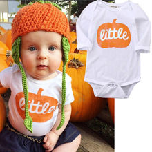 Halloween Pumpkin Baby Boys Girls short sleeve bodysuit Newborn Cotton letter printed Clothes Outfits цены онлайн