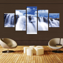 Unframed 5 PanelsThe Waterfall Picture Print Painting Modern Canvas Wall Art for Wall Decor Home Decoration Artwork